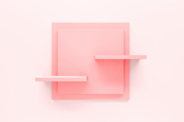 Scaffale moderno rosa pastello Foto Premium