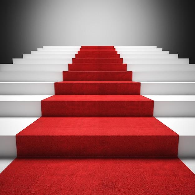 Scala del tappeto rosso Foto Premium
