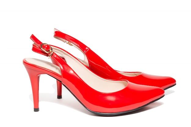 Scarpe col tacco alto rosse da donna Foto Premium