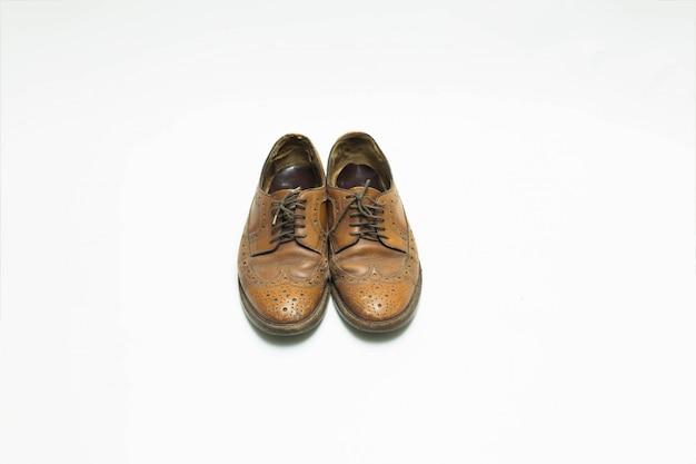 Scarpe in pelle isolate Foto Premium