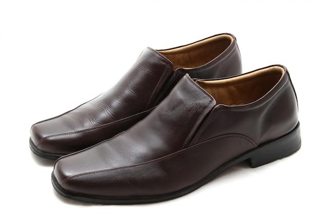 Scarpe in pelle marrone Foto Premium