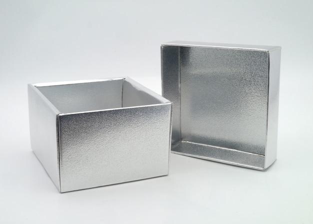 Scatola d'argento Foto Premium