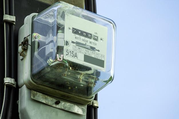 Scatola del contatore di elettricità Foto Premium
