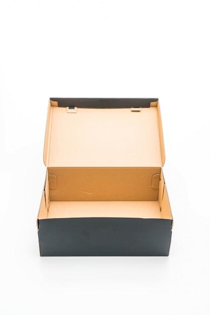 Scatola di scarpe nere Foto Premium
