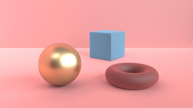 Scena astratta di forme geometriche Foto Premium