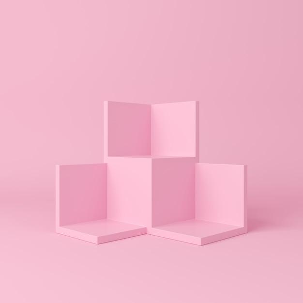Scena astratta. podio forma geometria sfondo. Foto Premium