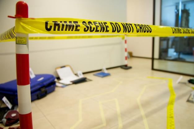 Scena del crimine Foto Premium