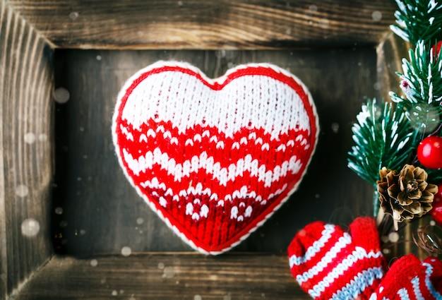 Scena di san valentino con elementi d'amore Foto Premium