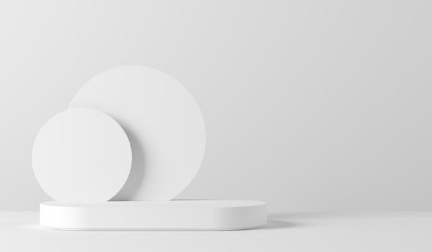 Scena per la visualizzazione del prodotto. rendering 3d Foto Premium