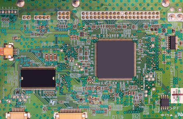 Scheda madre del moderno computer e processore. Foto Premium