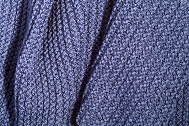 Sciarpa blu lavorata a maglia Foto Premium
