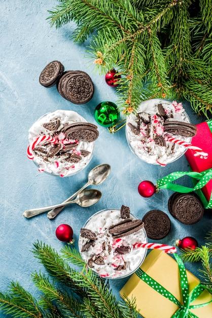 Sciocchezza natalizia alla menta piperita Foto Premium