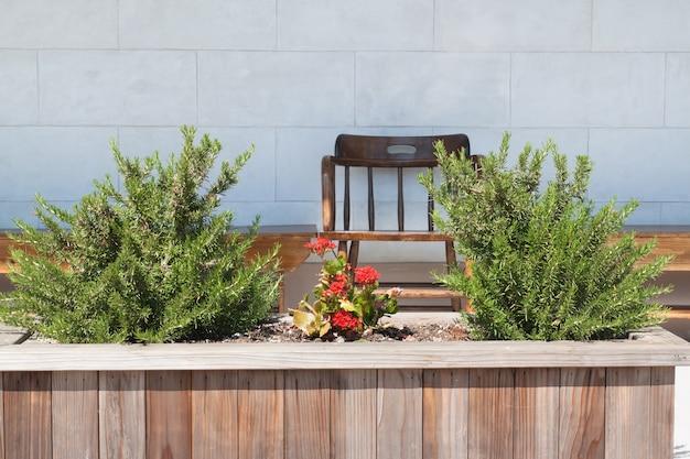 Sedia in legno in piccolo giardino scaricare foto gratis - Giardino piccolo foto ...