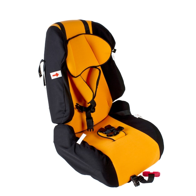 Seggiolino auto per bambini isolato. Foto Premium