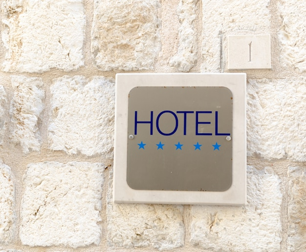Segno cinque stelle hotel Foto Gratuite
