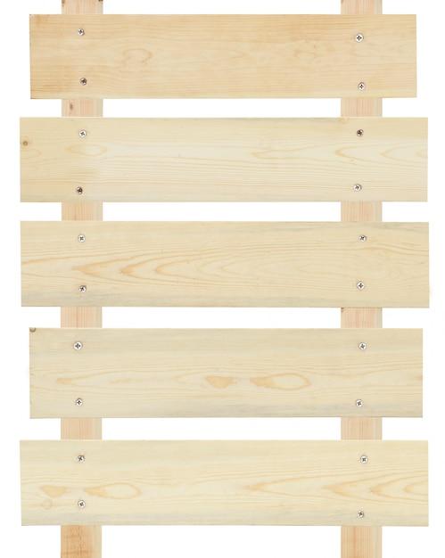 Segno di legno vuoto isolato Foto Premium