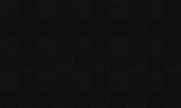 Senza soluzione di continuità black square tile pattern wall background. Foto Premium