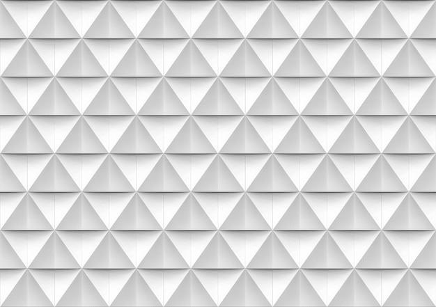 Senza soluzione di continuità moderna poligono triangolo bianco e grigio forma muro sfondo modello. Foto Premium