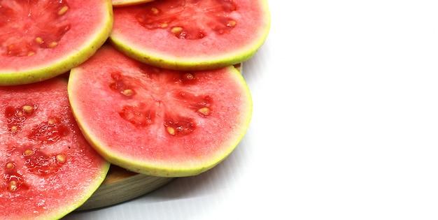Servizio fotografico guava fresco Foto Premium