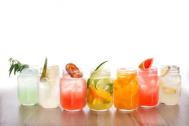 Set di bevande refrigeranti Foto Premium