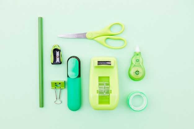 Set di elementi decorativi verdi Foto Gratuite