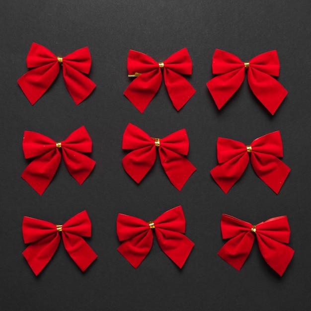 Set di fiocchi rossi Foto Gratuite