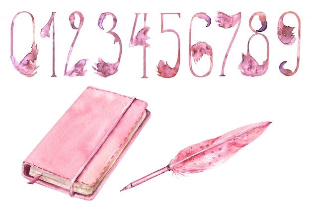 Set di forniture di scuola ragazze rosa forniture Foto Premium