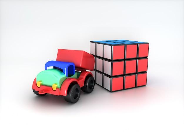 Set di giocattoli colorati Foto Premium