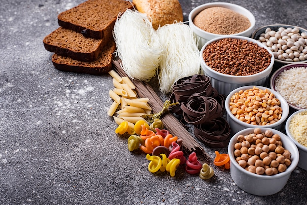 Set di prodotti senza glutine Foto Premium