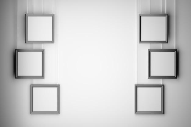 Set di sei presentazione mock up cornici vuote foto vuota disposte Foto Premium