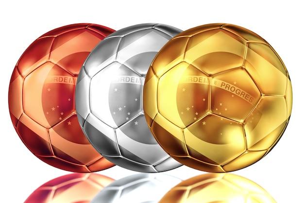 Sfera di metallo di calcio brasile Foto Premium