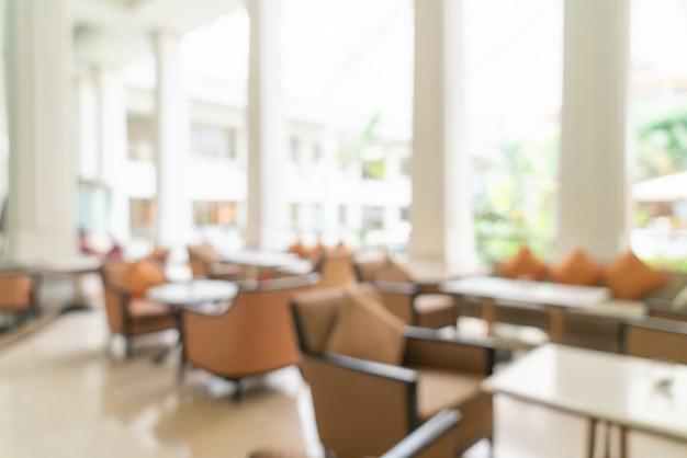 Sfocata lobby dell'hotel di lusso Foto Premium