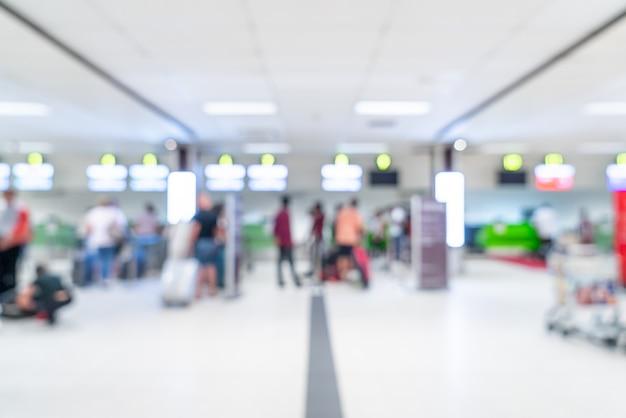 Sfocatura astratta in aeroporto per lo sfondo Foto Premium