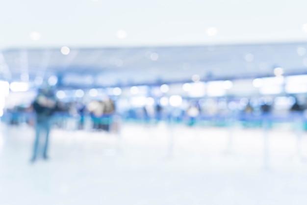 Sfocatura astratta in aeroporto Foto Premium