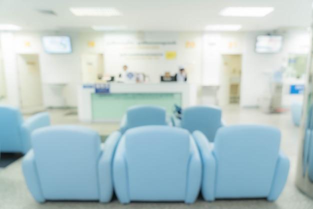 Sfocatura astratta in ospedale Foto Gratuite