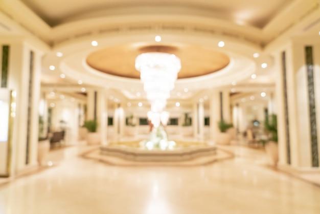 Sfocatura astratta lobby dell'hotel di lusso per lo sfondo Foto Premium
