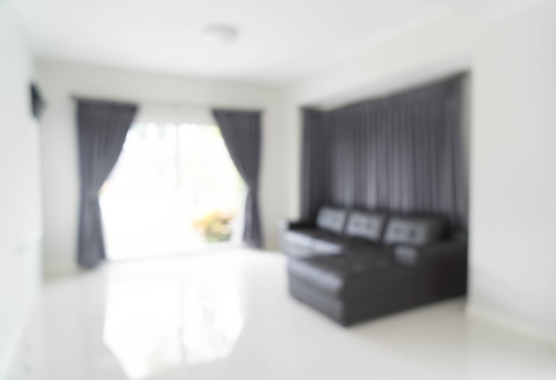 Sfocatura astratta nel salotto Foto Premium