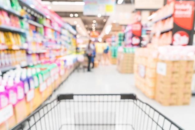 Sfocatura astratta nel supermercato Foto Gratuite