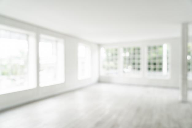 Sfocatura astratta stanza vuota con finestra di vetro Foto Premium