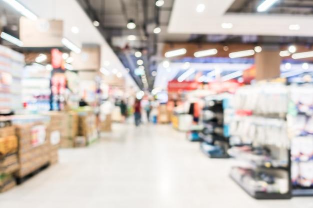 Sfocatura astratta supermercato Foto Gratuite