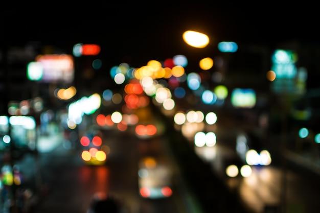 Sfocatura luci astratte del bokeh Foto Premium