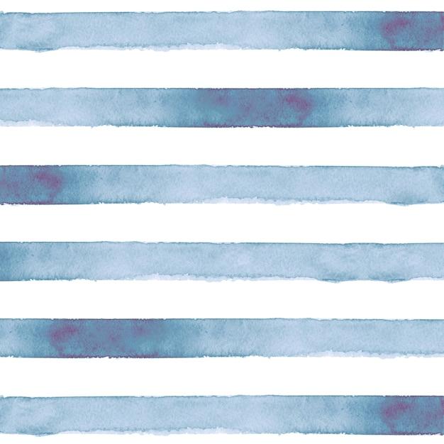 Sfondo acquerello a strisce blu Foto Premium