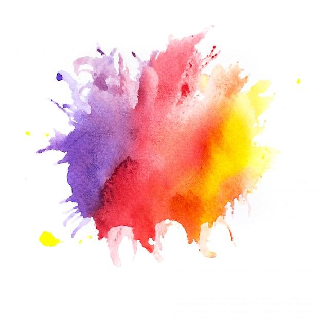 Sfondo acquerello. pittura a mano d'arte Foto Premium