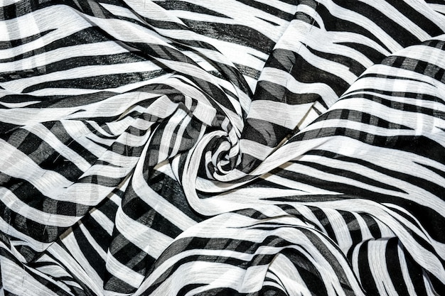 Sfondo astratto a strisce bianche e nere Foto Premium