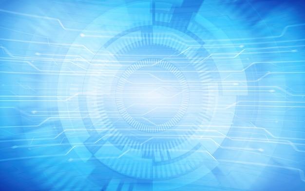 Sfondo astratto blu tecnologia Foto Premium