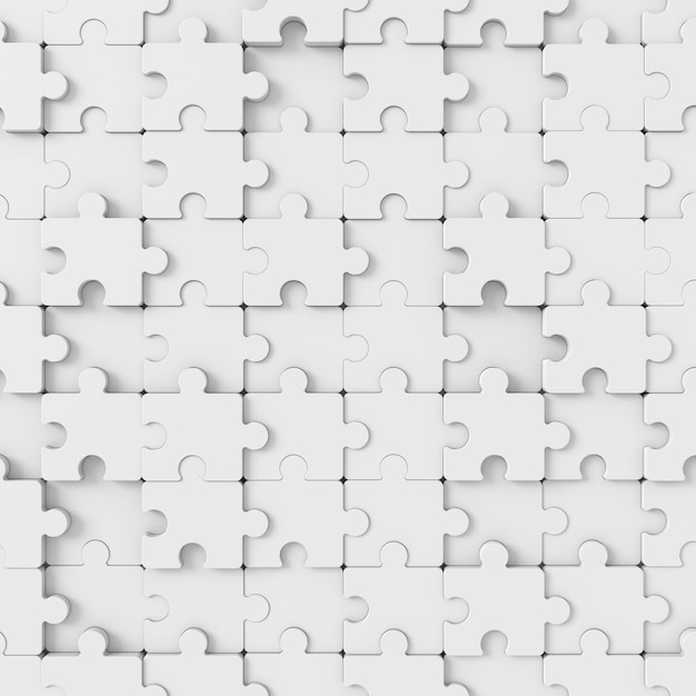 Sfondo astratto di puzzle. rendering 3d. Foto Premium