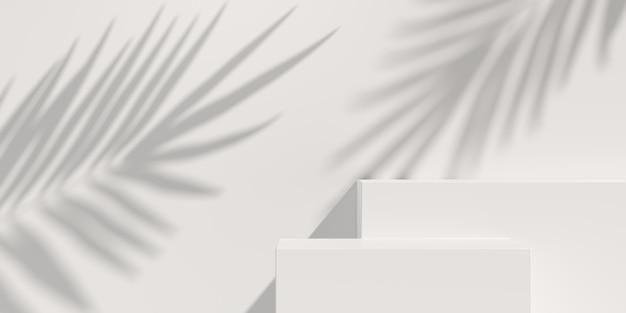 Sfondo astratto, scena per la visualizzazione del prodotto. rendering 3d Foto Premium