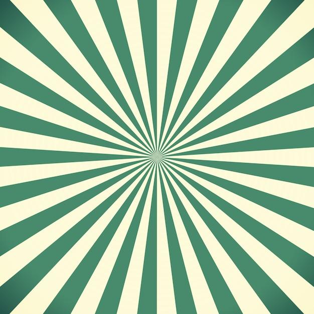 Sfondo Bianco E Verde Del Modello Di Sunburst Scaricare Foto Premium