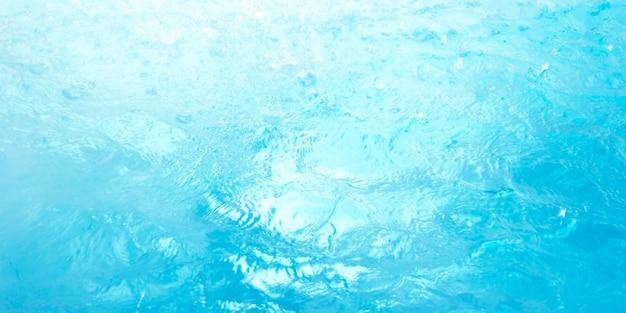 Sfondo blu superficie dell'acqua Foto Premium