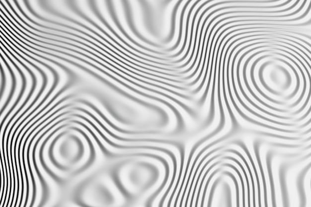 Sfondo con motivo ondulato sulla superficie. linee fluide del liquido in bianco e nero. Foto Premium